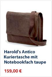 Harolds-Antico-Kuriertasche-Notebookfach-taupe