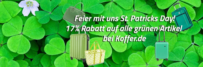 17-Prozent-St-Patricks-Day-bei-Koffer