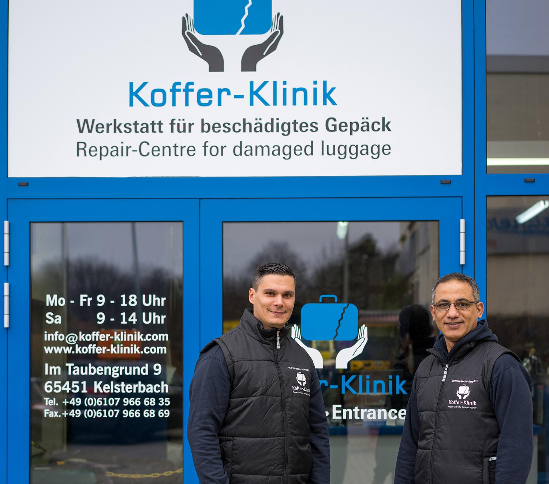 Die Koffer-Klinik neben dem Frankfurter Flughafen repariert gepäck aller Marken.